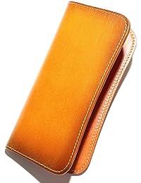 【 薄くてかさばらない - シンプルな革財布 】 熟練した技術を誇る革職人が作る 長財布 メンズ 本革 レザー 薄型 財布