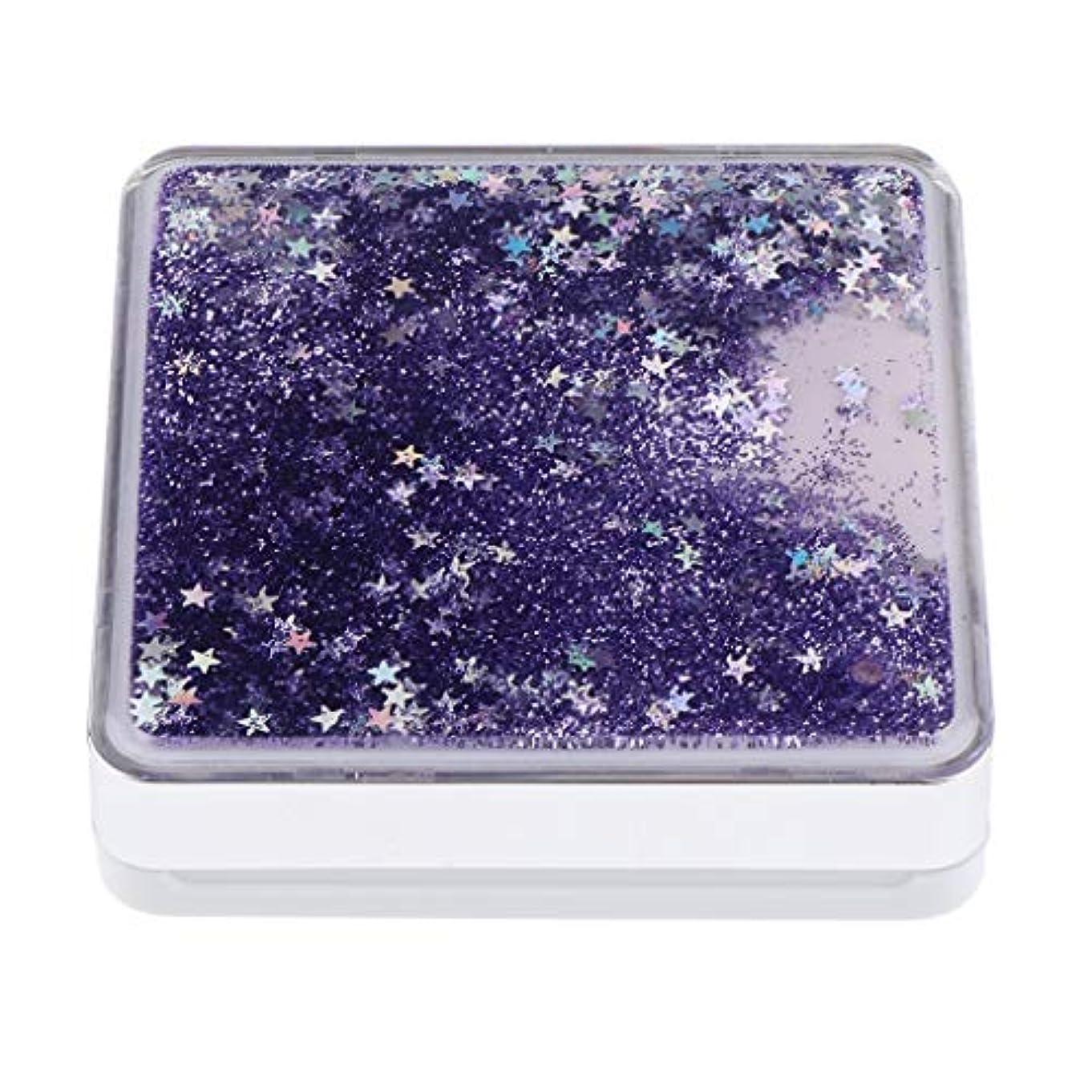 汚れるはっきりとタクシーB Baosity エアクッションケース パフ 化粧鏡 ミラー付き コンパクト 旅行小物 化粧品ケース 3色選べ - 紫