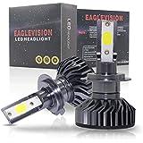 GZLMMY 2個セット LEDヘッドライト電球ハイビーム変換キット、60W 6000LM 6500K、60xDOBチップヘッドライトホワイト (H7)