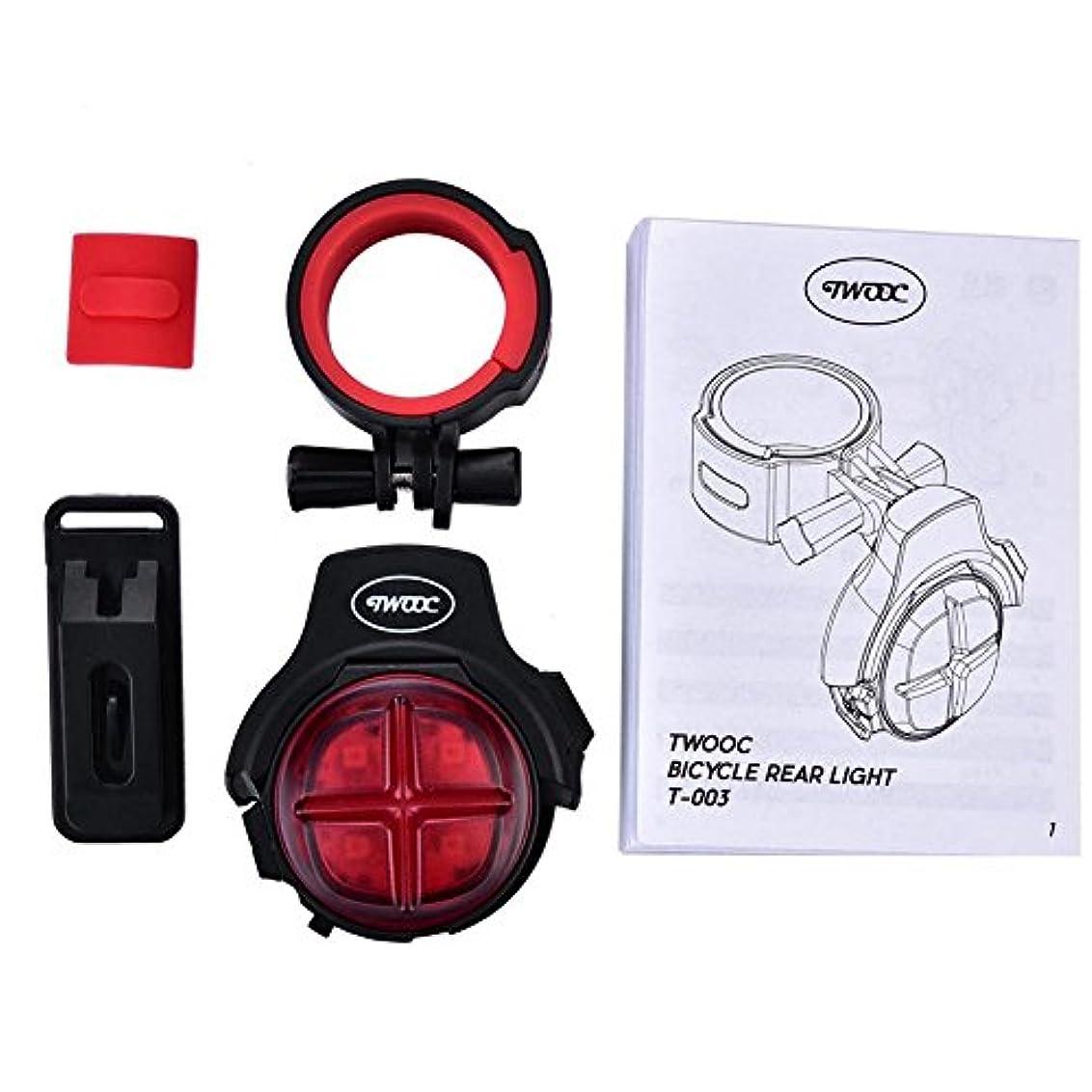 勤勉約設定兄汎用テールランプ ブレーキランプ 防水USB充電式 バイクLEDテールライト セーフティライト 自転車ライト リアサドルランプテール安全警告ライトナイトライディングアクセサリー
