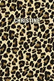 Christine: Personalized Notebook - Leopard Print (Animal Pattern). Blank College Ruled (Lined) Journal for Notes, Journaling, Diary Writing. Wildlife Theme Design with Your Name