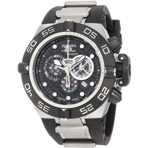 [インヴィクタ]Invicta 腕時計 Subaqua Noma IV Chronograph Black Dial Black Polyurethane Watch 6564 メンズ [並行輸入品]