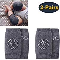[2 Pairs] Baby Crawling Knee Pads, Elastic Anti-Slip and Protect Infants & Toddlers Knees/Elbows/Legs for Boys and Girls