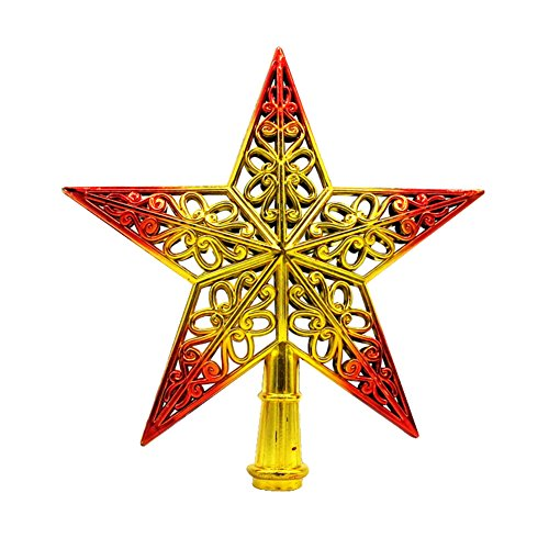 Gespout クリスマスツリートップ スター 星 クリスマス 飾り ツリーオーナメント 装飾 パーツ 幸運星 ツリー用品 アレンジ オーナメント 幸せを運ぶシャイニングスター クリスマスツリー