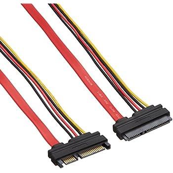 変換名人 SATA(7ピン)+SATA電源(15ピン) (オス - メス) SPAB-CA50