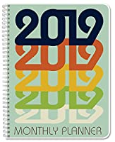 "BookFactoryカレンダー/Planner/Monthlyオーガナイザー[ wire-o Bound ] 2019 8.5"" x 11"""