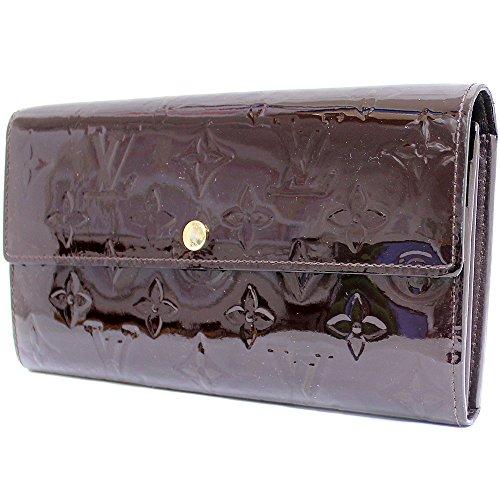 LOUISVUITTON (ルイヴィトン) ヴェルニ アマラント ポルトフォイユ・サラ旧 M93524 二つ折り長財布 モノグラム サイフ(中古)