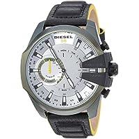 Diesel Men's Digital Watch smart Display and Leather Strap, DZT1012