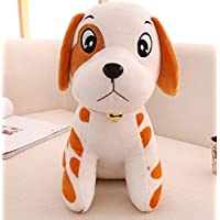 HuaQingPiJu-JP ソフト犬のおもちゃ25センチメートルぬいぐるみ犬のソフトおもちゃぬいぐるみダルメシアンおもちゃの人形キッド誕生日プレゼント(黄色)