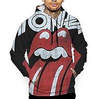 衛の衣長袖ジャケット帽子を含むポケットレジャーファッション秋の冬男の人プリント The Rolling Stones L