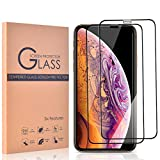 【2枚セット】iPhone XS/iPhone Xガラスフィルム NISHEN iPhone XS 強化ガラスフィルム 【日本製素材旭硝子製】 全面保護/業界最高硬度9H/高透過率/3D Touch対応/自動吸着/気泡ゼロ/液晶強化ガラス 全面フイルムカバー