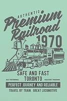 Premium Railroad: Dampflok Lokomotive Dampflokomotive Eisenbahn Notizbuch - Einschreibbuch - Tagebuch Achtsamkeit - Notebook - Skizzen - Liniert - Notes  - Abschiedsgeschenk