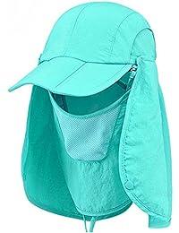(Puppy-Sports) 360度 日よけ 付き 折りたたみ キャップ 帽子 防水 UVカット 日焼け 防止 釣り アウトドア キャンプ