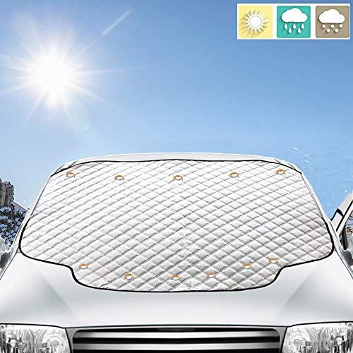 フロントカバー 車サンシェード 日焼け止め 内臓磁石11枚強力付着 サンシェード 183*116cm 四季用 遮光 落葉対策 防水材料 厚手 普通車/軽自動車/SUVに適用