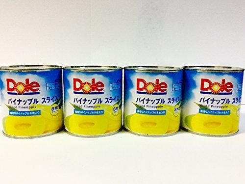 Dole パイナップル スライス 輪切り8枚入り(432g×4缶セット)