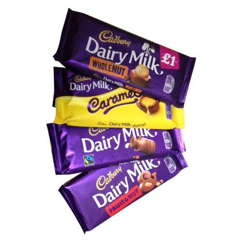 Cadbury Assortment (キャドバリー アソートメント) 4 x 120g - Dairy Milk, Fruit & Nut, Whole Nut, Caramel (デイリーミルク、フルーツ&ナッツ、ホールナッツ、キャラメル 4種) 【並
