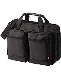 サンワダイレクト ビジネスバッグ 【20ポケット】14型ワイドPC対応 2WAY 就活バッグ キャリーサポーター付き 200-BAG043