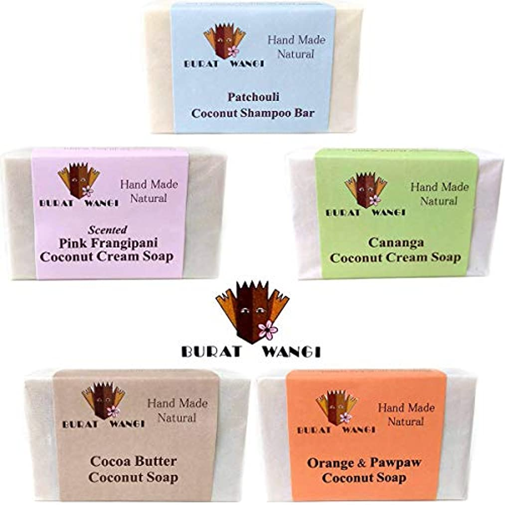 光恵みバターブラットワンギ Burat Wangi ココナッツ ソープ 80g 選べるまとめ買い5個セット バリ島から 無添加 石鹸 [海外直送品]