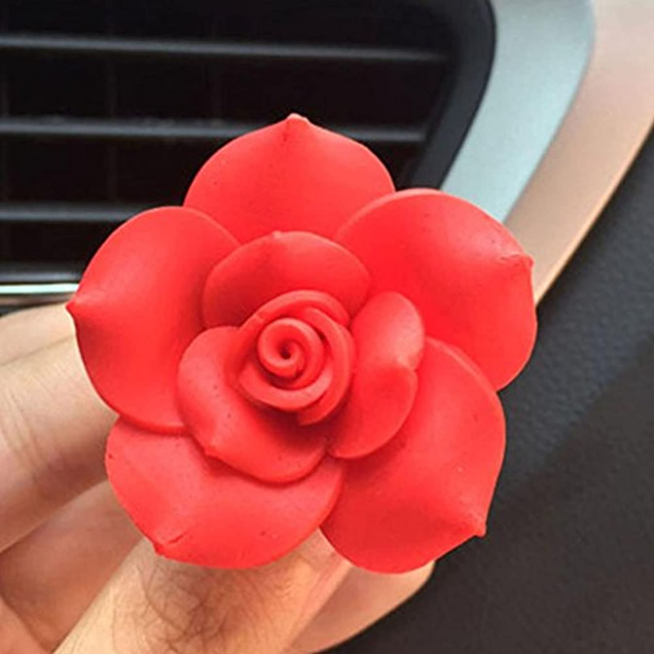 重要忌まわしいそれにもかかわらずgessppo車ソフトSOTTERY Flower AirコンセントFragrant PerfumeクリップFreshener Diffuser
