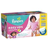 Pampers Easy Ups Training Pants Pull On Disposable Diapers for Girls Size