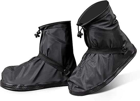 DATAMO シューズカバー 防水 靴カバー 防雪防雨 泥除け 携帯可 レインブーツ レインシューズ 梅雨対策 滑り止め 耐摩耗 自転車 通勤通学 着用簡単 男女兼用 多種サイズ選択可 防水高さ21cm M