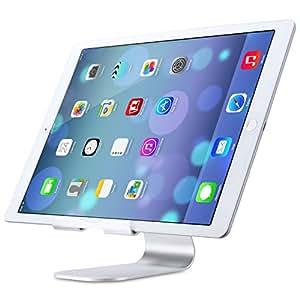 Niccou iPad Pro タブレットPC スマホ対応 スタンド 270°回転 調整可能 アルミ シルバー