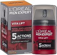 L'Oréal Paris Men Expert Vita Lift 5 Anti-Ageing Moisturiser, Firms and Brightens, with Pro Retinol,