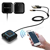 Bluetooth レシーバー 内蔵マイク NFC搭載 Bluetooth4.0 カー 車 ワイヤレス オーディオ 高音質 ハンズフリー通話 bluetooth発信端全対応[メーカー正規品]