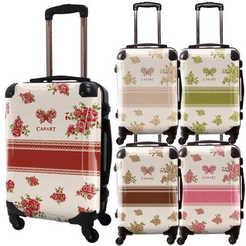 フラワースプレースーツケース/プロフィトロール/ベーシック/フレーム4輪/TSAロック/機内持込可能/ボルドー ネーブルスイエロー コハク ナチュラルベージュ オレンジ ピンク サックスブルー グリーン/CRA01-029