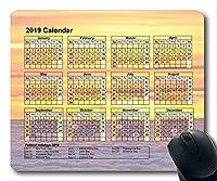 2019カレンダー付き大切な休日用パッド、マウスマット、星空ゲーム用マウスパッド