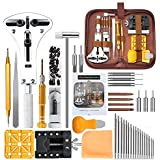 Watch Repair Kit, E·Durable Professional Spring Bar Tool Set 149 in 1 Watch Battery Replacement Tool Kit with Mannual and Car
