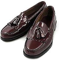 G.H BASS LAYTON G.H.BASS G.H.バス レイトン ブラック/バーガンティ/ワイン ローファー 革靴 [並行輸入品]