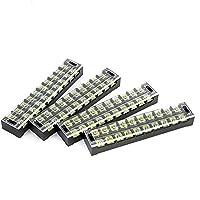 SuYEp 10位置デュアル行600V 45Aワイヤバリアブロック端子台tb-4510 TB45A10P ブラック