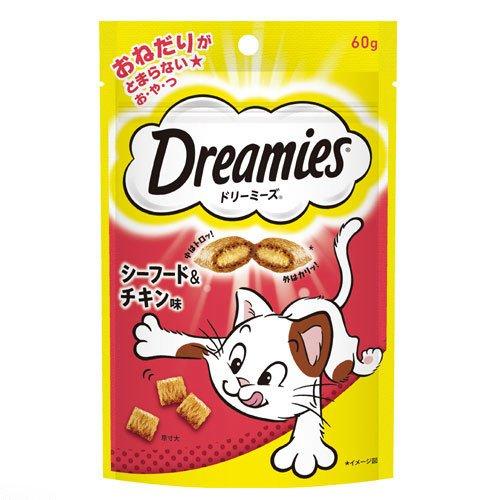 箱売り ドリーミーズ シーフード&チキン味 60g 1箱36...