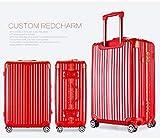 Osonmアルミニウムマグネシウム合金製 スーツケース キャリーバッグ 機内持ち込みスーツケース TSAロック 自在車 キャスター 5色6013 (S, レッド)