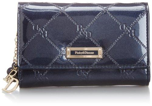 [ピンキーアンドダイアン] Pinky&Dianne 折財布 チェックエナメル L字ファスナー付折財布