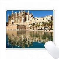 空いている大聖堂、パルマ・デ・マジョルカ、マヨルカ、スペインの眺め。 PC Mouse Pad パソコン マウスパッド