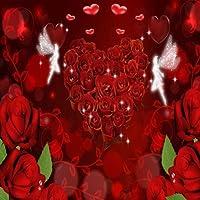 バレンタインの日テーマビデオスタジオ背景コンピュータ印刷写真背景写真バックドロップCP _ g-123