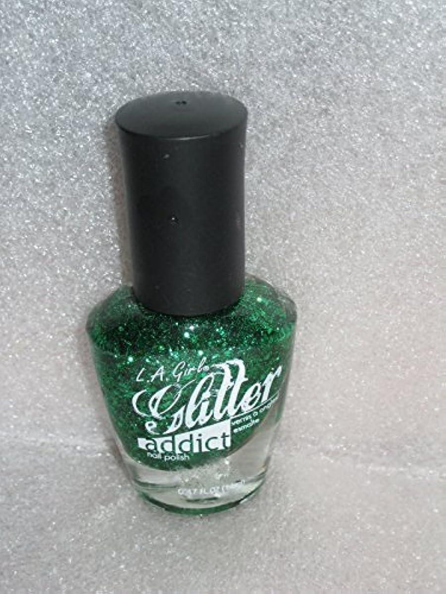傷つきやすい正当化する十LA GIRL Glitter Addict Polish - Purge (並行輸入品)