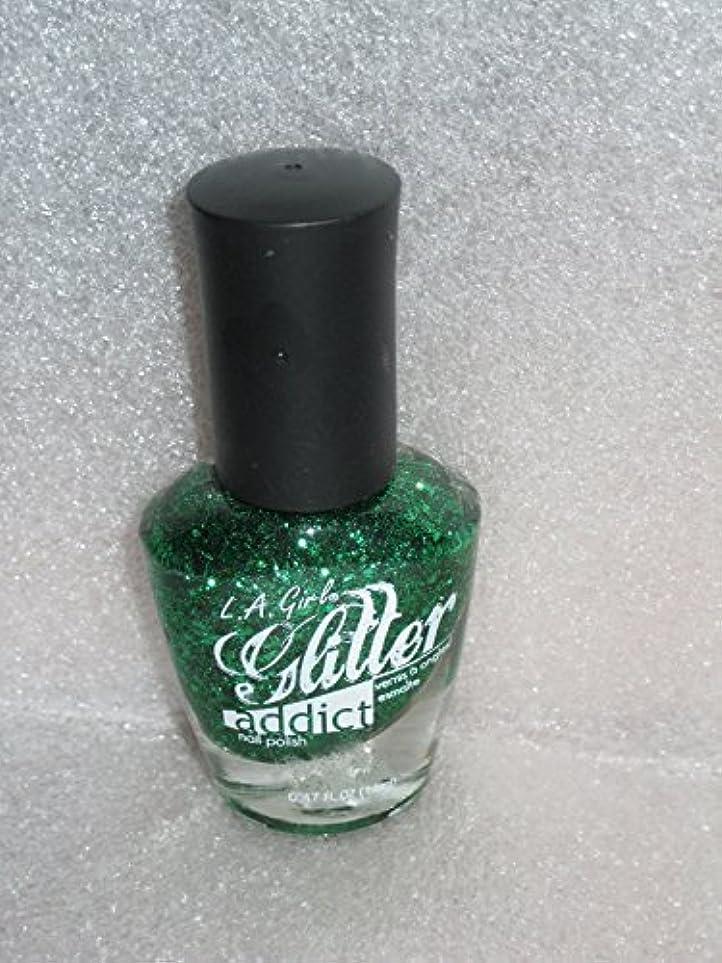 雇用者ポーク不安LA GIRL Glitter Addict Polish - Purge (並行輸入品)