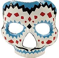 Day of the Dead maleスケルトンゴシックラテックス大人用ハロウィンコスチュームマスク