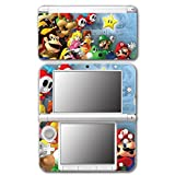 Super Mario Party Friends Island Tour Shy Guy Peach Yoshi Luigi Star Daisy Wario Bowser Video Game Vinyl Decal Skin Sticker Cover for Original Nintendo 3DS XL System by Vinyl Skin Designs [並行輸入品]