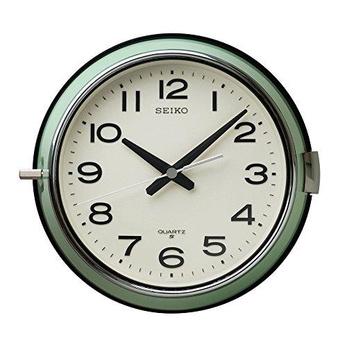 RoomClip商品情報 - セイコー クロック 掛け時計 アナログ 防塵型 オフィスタイプ 金属枠 薄緑 KS474M SEIKO