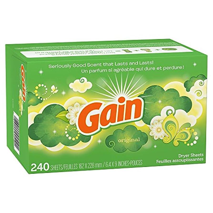 シングル湿度額Gain Dryer Sheets, Original, 240 Count by GAIN
