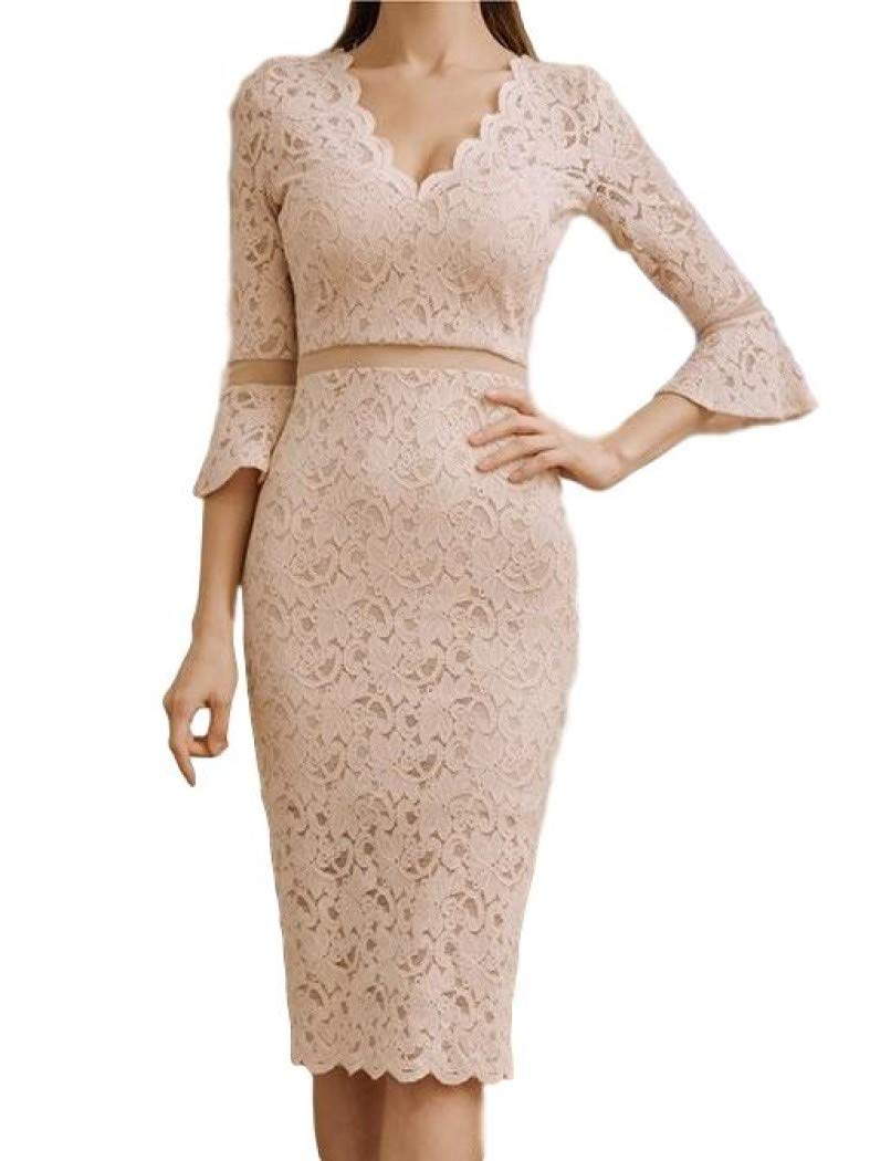 05f5e0964d4b2  Iracarilla  Julia Lace 3 4 Sleeves Above Knee A-Line Party Dress Dress  Women s