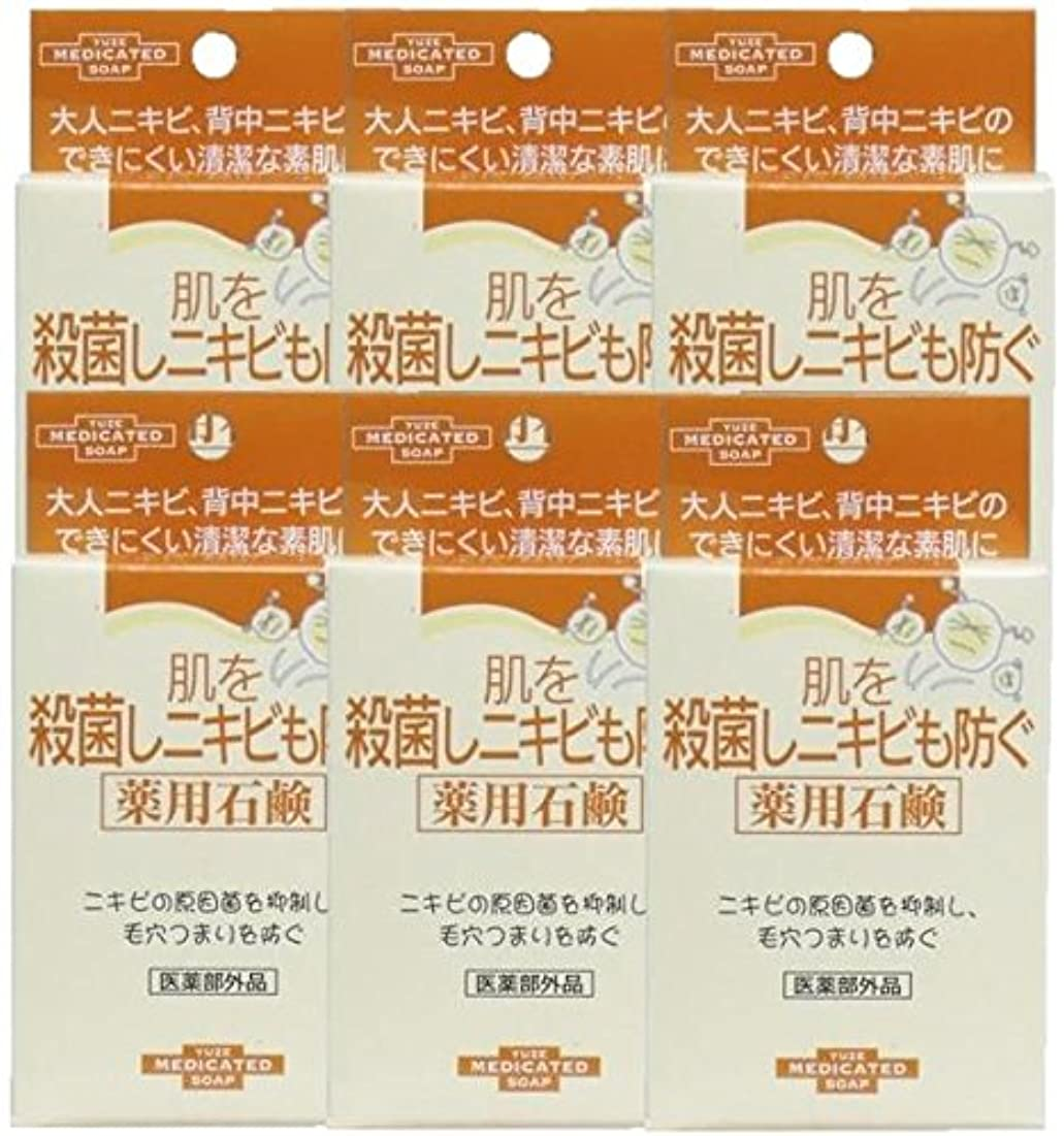 処分したサーキュレーション壮大なユゼ 肌を殺菌しニキビも防ぐ薬用石鹸 (110g)×6個セット
