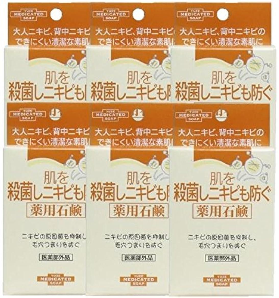 衝突する養う報奨金ユゼ 肌を殺菌しニキビも防ぐ薬用石鹸 (110g)×6個セット