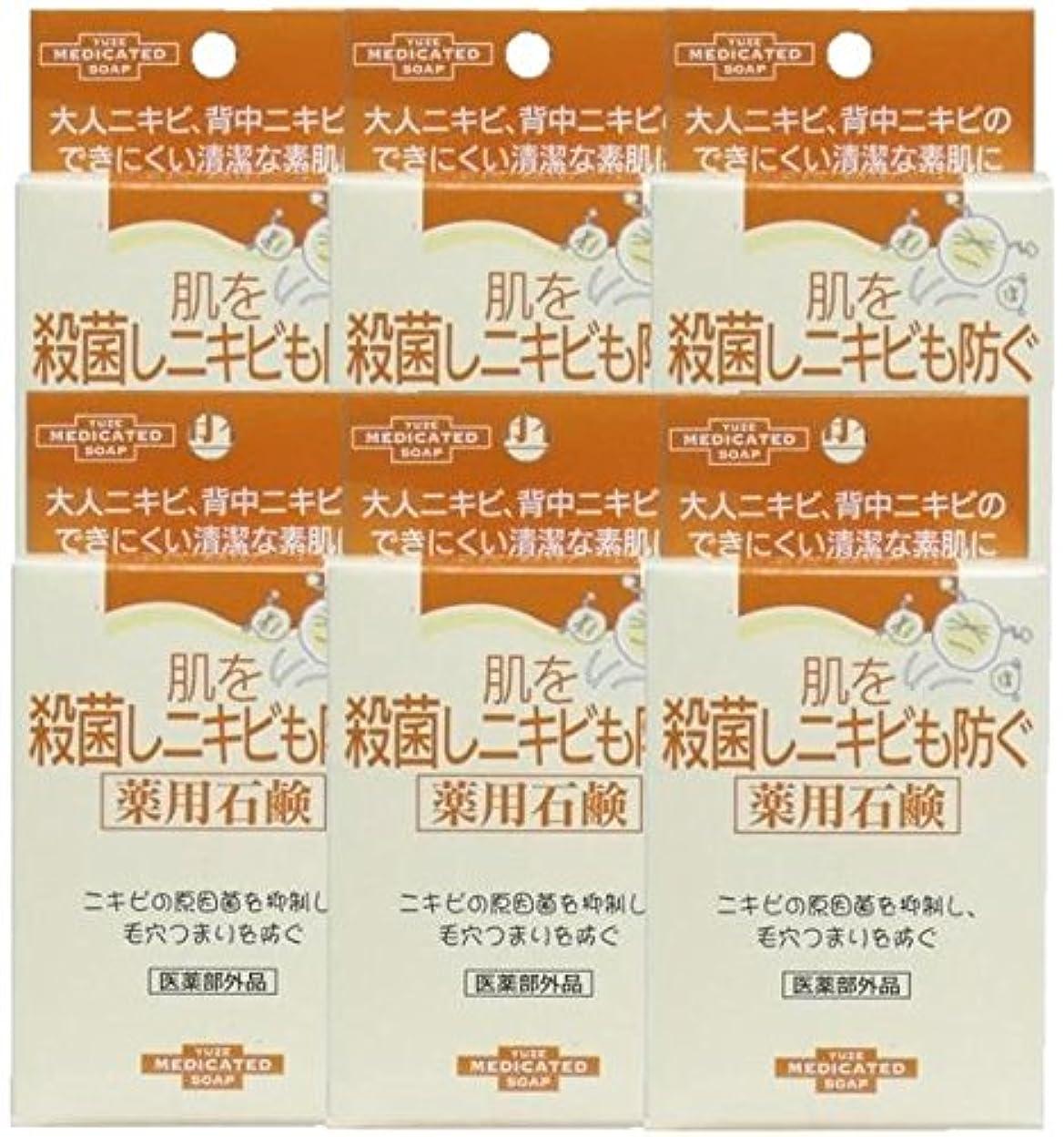 レジ宣言するインデックスユゼ 肌を殺菌しニキビも防ぐ薬用石鹸 (110g)×6個セット
