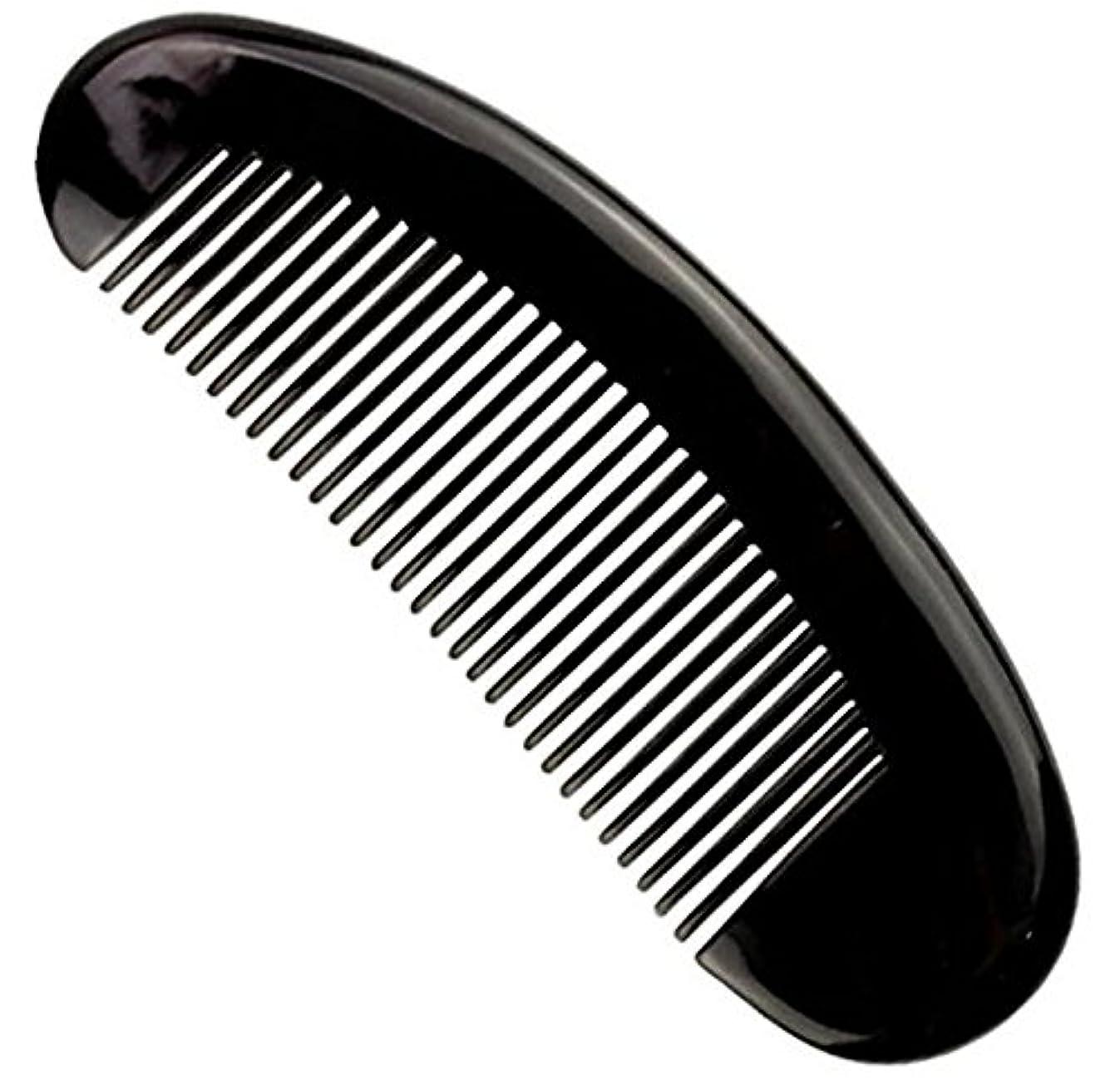 ストライプ労働者家具櫛型 プロも使う牛角かっさプレー マサージ用 血行改善 高級 天然 静電気防止 美髪 美顔 ボディ リンパマッサージ
