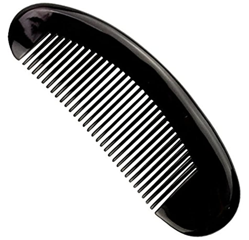 メンダシティマイル受粉する櫛型 プロも使う牛角かっさプレー マサージ用 血行改善 高級 天然 静電気防止 美髪 美顔 ボディ リンパマッサージ